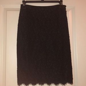NWT Diane von Furstenberg lace pencil skirt